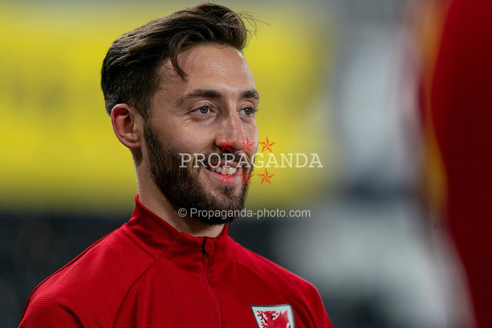 SWANSEA, WALES - Thursday, November 12, 2020: Wales' Josh Sheehan during the pre-match warm-up before an International Friendly match between Wales and the USA at the Liberty Stadium. (Pic by David Rawcliffe/Propaganda)