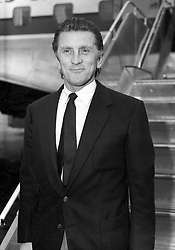 File photo dated 15/10/58 of Kirk Douglas, who is celebrating his 100th birthday today.