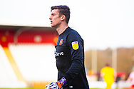 Liam Roberts Goal Keeper of Walsall during the EFL Sky Bet League 2 match between Stevenage and Walsall at the Lamex Stadium, Stevenage, England on 20 February 2021.