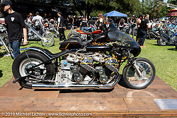 Cool bikes filled the guest custom bike corral at the Born Free Motorcycle Show (BF11) at Oak Canyon Ranch, Silverado  CA, USA. Saturday, June 22, 2019. Photography ©2019 Michael Lichter.