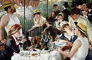 Luncheon of the Boating Party, 1881 by French impressionist Pierre-Auguste Renoir (1841-1919).