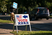 x at a polling location in Minneapolis, Minnesota, U.S., on Tuesday, Aug. 11, 2020. Photographer: Ben Brewer/Bloomberg