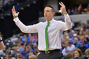 April 4, 2016; Indianapolis, Ind.; Ryan McCarthy reacts to a call in the NCAA Division II Women's Basketball National Championship game at Bankers Life Fieldhouse between UAA and Lubbock Christian. The Seawolves lost to the Lady Chaps 78-73.
