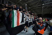 Nikolic Stefan ,  tifosi ,  pubblico <br /> LegaBasket Serie A 2019/2020<br /> 13° Giornata - Andata - 15/12/2019 <br /> Segafredo Virtus Bologna - Happy Casa Brindisi 99-87<br /> Bologna Virtus Segafredo Arena14/12/2019 Ore 20:30<br /> foto GiulioCiamillo/Ciamillo