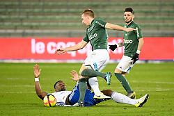 February 13, 2019 - Saint Etienne, France - 27 ROBERT BERIC (ASSE) - 05 LAMINE KONE  (Credit Image: © Panoramic via ZUMA Press)