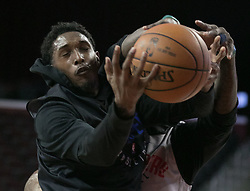 October 10, 2017 - Los Angeles, California, U.S - Lou Williams #23 of the Los Angeles Clippers battles for the ball during their Free Open Practice for fans held on Tuesday October 10, 2017 at the Galen Center in USC in Los Angeles, California. (Credit Image: © Prensa Internacional via ZUMA Wire)