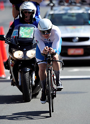 Scotland's Kyle Gordon in action during the Men's Individual Time Trial at Currumbin Beachfront on day six of the 2018 Commonwealth Games in the Gold Coast, Australia.