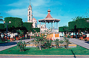 MEXICO, ARCHITECTURE Victorian style bandshell on main square of Tlacotalpan in State of Veracruz