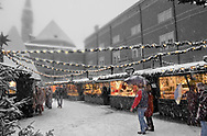"""""""Unreliable Sightings No: 37 """" - Saltzburg - Austria, Snowy Christmas market. Selective colour photo art print by photographer Paul E Williams. Unreliable Sightings - Saltzburg is a selective colour photography series by photographer Paul Williams  of tourist in the snow at Saltzburg Christmas Market in 2007 . .<br /> <br /> Visit our REPORTAGE & STREET PEOPLE PHOTO ART PRINT COLLECTIONS for more wall art photos to browse https://funkystock.photoshelter.com/gallery-collection/People-Photo-art-Prints-by-Photographer-Paul-Williams/C0000g1LA1LacMD8"""