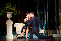 Dance 'Til Dawn <br /> Vincent Simone & Flavia Cacace <br /> at the Aldwych Theatre, London, Great Britain <br /> press photocall<br /> 29th October 2014 <br /> <br /> <br /> Vincent Simone & Flavia Cacace <br /> <br /> <br /> <br /> <br /> Photograph by Elliott Franks <br /> Image licensed to Elliott Franks Photography Services