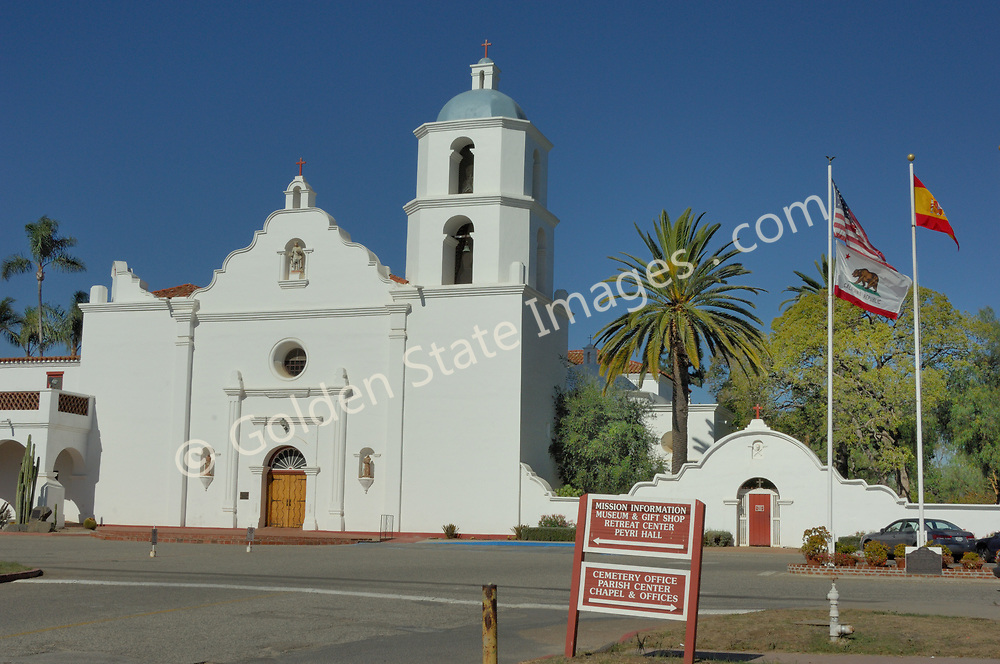 """Founded in 1798, Mission San Luis Rey de Francia is known as the """"King of the Missions,"""" and largest of the 21 California missions, it is open to the public.<br /> <br /> It is the eighteenth of the twenty-one California missions and was the last to be built in the south.<br /> <br /> The mission is a popular subject for local artists. It is a registered National Historic Landmark."""