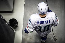 Anze Kuralt of Slovenia during ice hockey match between Belarus and Slovenia at IIHF World Championship DIV. I Group A Kazakhstan 2019, on May 2, 2019 in Barys Arena, Nur-Sultan, Kazakhstan. Photo by Matic Klansek Velej / Sportida