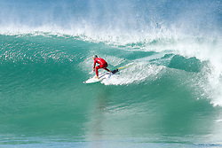 Jul 17, 2017 - Jeffries Bay, South Africa - Filipe Toledo advances to Round Three of the Corona Open J-Bay after defeating rookie Kanoa Igarashi of the USA in Heat 8 of Round Two in pumping Supertubes. (Credit Image: © Pierre Tostee/World Surf League via ZUMA Wire)