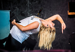 """Ellie Goulding on the Main Stage. Friday at Rockness 2013, the annual music festival which took place in Scotland at Clune Farm, Dores, on the banks of Loch Ness, near Inverness in the Scottish Highlands. The festival is known as """"the most beautiful festival in the world"""" ."""