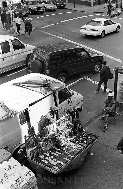 West African street vendor, Broadway, Manhattan.