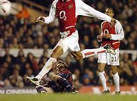 Fotball<br /> Carling Cup England<br /> 20.01.2004<br /> Foto: Digitalsport<br /> Norway Only<br /> <br /> ARSENAL v MIDDLESBROUGH CARLING CUP<br /> JUNINHO SHOT HITS THE POST MIDDLESBROUGH