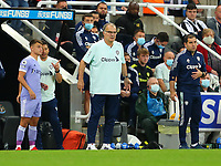 NEWCASTLE UPON TYNE, ENGLAND - SEPTEMBER 17: Marcelo Bielsa of Leeds United shouts instructions to his players during the Premier League match between Newcastle United and Leeds United at St. James Park on September 17, 2021 in Newcastle upon Tyne, England. (Photo by MB Media)