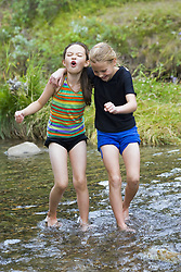 July 21, 2019 - Girls Playing In Water (Credit Image: © Carson Ganci/Design Pics via ZUMA Wire)