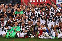 Celebrazione Coppa Juventus vince il trofeo, Celebration Cup Juventus Wins the trophy  <br /> Roma 17-05-2017 Stadio Olimpico.<br /> Football Calcio Finale Coppa Italia / Italy's Cup Final 2016/2017. Juventus - Lazio<br /> Foto Cesare Purini / Insidefoto
