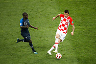 Mario Mandzukic of Croatia and N'Golo Kante of France during the 2018 FIFA World Cup Russia, final football match between France and Croatia on July 15, 2018 at Luzhniki Stadium in Moscow, Russia - Photo Tarso Sarraf / FramePhoto / ProSportsImages / DPPI