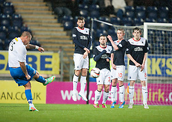 Morton's Garry O'Connor.<br /> Falkirk 1 v 1 Morton, Scottish Championship game today at The Falkirk Stadium.<br /> © Michael Schofield.