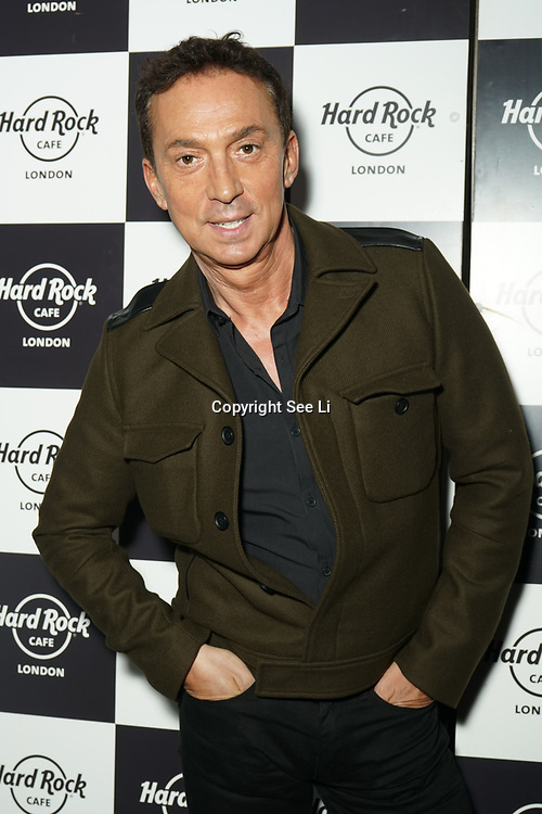 Hard Rock Cafe London, England, UK. 4th Dec 2017. Bruno Tonioli Arrivals at Fight For Life Charity Event of Christmas festivities and entertainment for children with cancer.