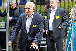 © Licensed to London News Pictures . 01/10/2017. Manchester, UK. SIR VINCE CABLE . Thousands of people take part in an anti Brexit pro EU demonstration at All Saints Park in Manchester during the Conservative Party Conference , which is taking place at the Manchester Central Convention Centre . Photo credit: Joel Goodman/LNP