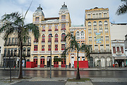 Hotel 55 Rio in an restored Portuguese colonial building along the Avenida República do Paraguai in the Lapa neighborhood of Rio de Janeiro, Brazil.