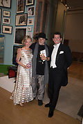 MONIKA MCLENNAN, RON ARAD, JASON CROSBY 2019 Royal Academy Annual dinner, Piccadilly, London.  3 June 2019