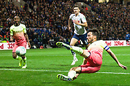 Manchester City midfielder David Silva going for goal during the EFL Cup match between Preston North End and Manchester City at Deepdale, Preston, England on 24 September 2019.