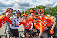 Marianne Vos (NED) riding for CCC-Liv (3rd from left) after winning Stage 2 of the OVO Energy Women's Tour 2019 at Cyclopark, Gravesend, United Kingdom on 11 June 2019.