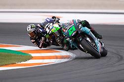 November 17, 2019, Valence, Espagne: FRANCO MORBIDELLI - ITALIAN - PETRONAS YAMAHA SRT - YAMAHA.MAVERICK VINALES - SPANISH - MONSTER ENERGY YAMAHA MotoGP - YAMAHA (Credit Image: © Panoramic via ZUMA Press)