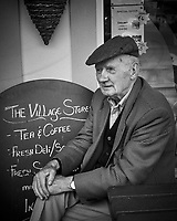Old Man at the Village Store in Ballyvaughan. Image taken with a Leica X2 camera.