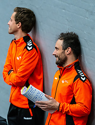 Coach Emmanuel Mayonnade of Netherlands, Ass. Coach Ricardo Clarijs of Netherlands after the Women's EHF Euro 2020 match between Netherlands and Norway at Sydbank Arena on december 10, 2020 in Kolding, Denmark (Photo by RHF Agency/Ronald Hoogendoorn)