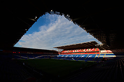 CARDIFF, WALES - Monday, October 9, 2017: A general view of the stadium before the 2018 FIFA World Cup Qualifying Group D match between Wales and Republic of Ireland at the Cardiff City Stadium. (Pic by Paul Greenwood/Propaganda)