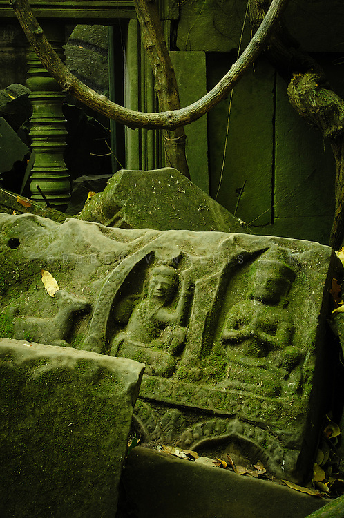 Stone carvings at Beng Mealea, Cambodia