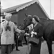 23/04/1962<br /> 04/23/1962<br /> 23 April 1962<br /> Irish Grand National at Fairyhouse<br /> Owners Mr. and Mrs. Frank Stafford pose with Kerforo, winner of the Irish Grand National at Fairyhouse on 23 April 1962.