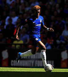 "Chelsea's Callum Hudson-Odoi during the Community Shield match at Wembley Stadium, London. PRESS ASSOCIATION Photo. Picture date: Sunday August 5, 2018. See PA story SOCCER Community Shield. Photo credit should read: Adam Davy/PA Wire. RESTRICTIONS: EDITORIAL USE ONLY No use with unauthorised audio, video, data, fixture lists, club/league logos or ""live"" services. Online in-match use limited to 75 images, no video emulation. No use in betting, games or single club/league/player publications."