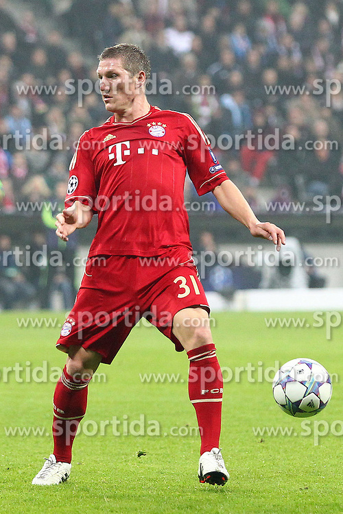 02.11.2011, Allianz Arena, Muenchen, GER, UEFA CL, FC Bayern Muenchen vs. SSC Neapel, im Bild Bastian Schweinsteiger (Bayern #31)  // during the CL match  FC Bayern Muenchen (GER)  vs.  SSC Neapel  (ITA) Gruppe A, on 2011/11/02, Allianz Arena, Munich, Germany, EXPA Pictures © 2011, PhotoCredit: EXPA/ nph/  Straubmeier       ****** out of GER / CRO  / BEL ******