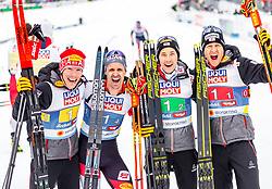 02.03.2019, Seefeld, AUT, FIS Weltmeisterschaften Ski Nordisch, Seefeld 2019, Nordische Kombination, Langlauf, Team Bewerb 4x5 km, im Bild Bronze Medaille für Franz-Josef Rehrl (AUT) Lukas Klapfer (AUT), Mario Seidl (AUT), Bernhard Gruber (AUT) // Franz-Josef Rehrl of Austria Lukas Klapfer of Austria Mario Seidl of Austria Bernhard Gruber of Austria during the Cross Country Team competition 4x5 km of Nordic Combined for the FIS Nordic Ski World Championships 2019. Seefeld, Austria on 2019/03/02. EXPA Pictures © 2019, PhotoCredit: EXPA/ Stefanie Oberhauser