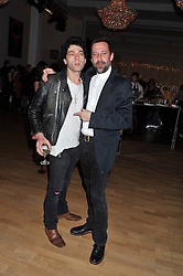 Left to right, TIM NOBLE and DAVID DORRELL at the Whitechapel Gallery Art Plus Opera gala in association with Swarovski held at the Whitechapel Gallery, London on 15th March 2012.