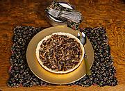Mushroom tart prepared by Chef Kirsten Dixon, Winterlake Lodge, Finger Lake, Alaska.