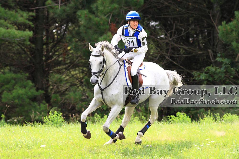 Anne Zander and Caliente Kisses at Grandview Horse Trials held August 1 - 2, 2009 in Hawkestone, Ontario.