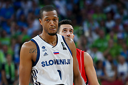 Anthony Randolph of Slovenia during the Final basketball match between National Teams  Slovenia and Serbia at Day 18 of the FIBA EuroBasket 2017 at Sinan Erdem Dome in Istanbul, Turkey on September 17, 2017. Photo by Vid Ponikvar / Sportida