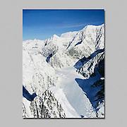 Alaska. Denali NP. West Fork of Ruth Glacier in center foreground.