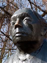 Statue of Kathe Kollwitz in Prenzlauer Berg district of Berlin Germany 2009