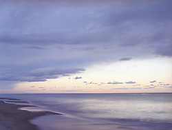 East Hampton clouds and beach at dusk
