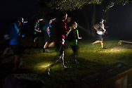 Mamakating, New York  - Runners start the 50-mile division of the Shawangunk Ridge Trail Run/Hike at the boat launch in the Bashakill Wildlife Management Area on Sept. 16, 2017.