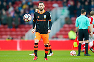 Sheffield Wednesday forward Steven Fletcher (6) warming up during the The FA Cup match between Middlesbrough and Sheffield Wednesday at the Riverside Stadium, Middlesbrough, England on 8 January 2017. Photo by Simon Davies.