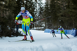 Fabjan Vesna of Slovenia during 6 x 1.2 km Team Sprint Free race at FIS Cross Country World Cup Planica 2016, on January 17, 2016 at Planica, Slovenia. Photo By Grega Valancic / Sportida